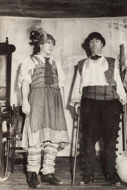 """""""D'ale Carnavalului"""", Toma Caragiu și Marin Moraru, Teatrul Bulandra, regia Lucian Pintilie, stagiunea 1966-1967"""